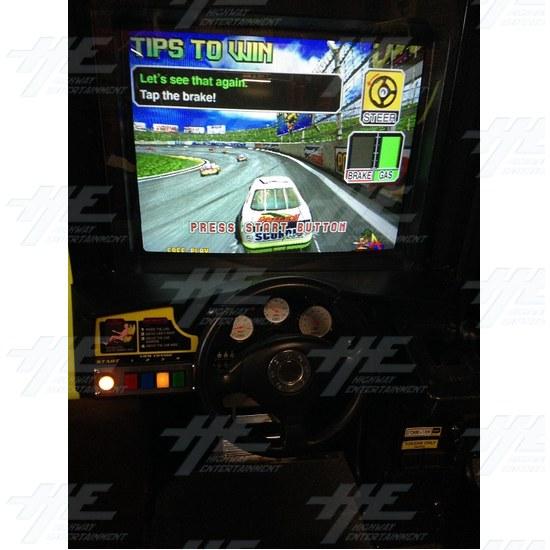 Daytona 2 USA Twin Driving Arcade Machine - Monitor One Close Up