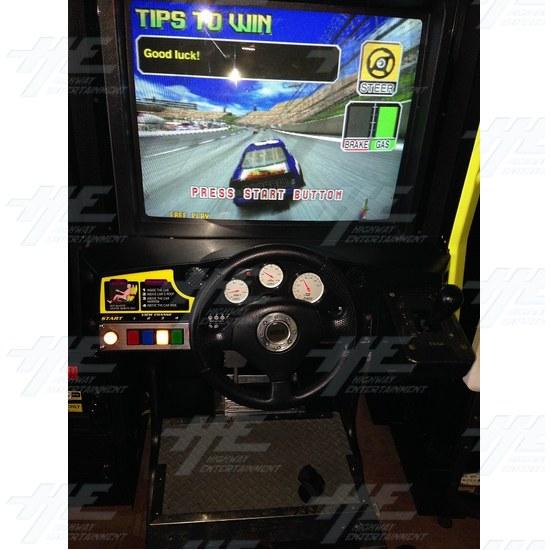 Daytona 2 USA Twin Driving Arcade Machine - Monitor Two Close Up