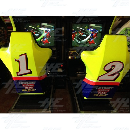 Daytona 2 USA Twin Driving Arcade Machine - Front View