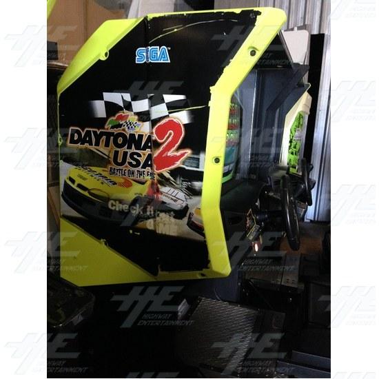 Daytona 2 USA Twin Driving Arcade Machine - Side View