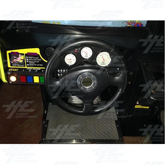 Daytona 2 USA Twin Driving Arcade Machine - Control Panel One View