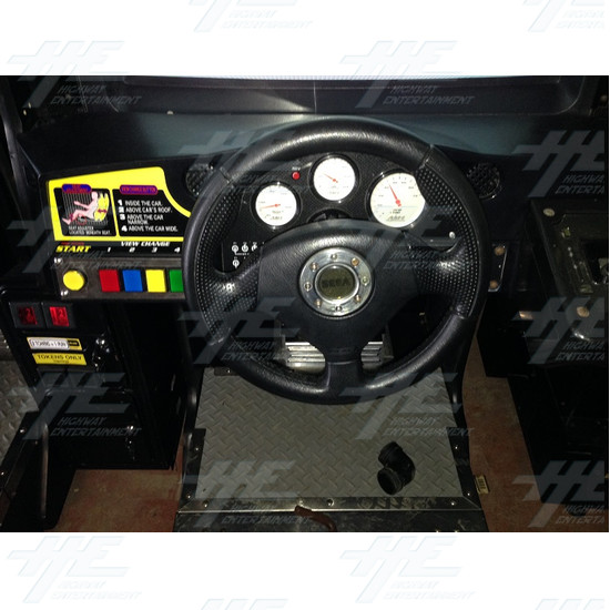 Daytona 2 USA Twin Driving Arcade Machine - Control Panel Two View