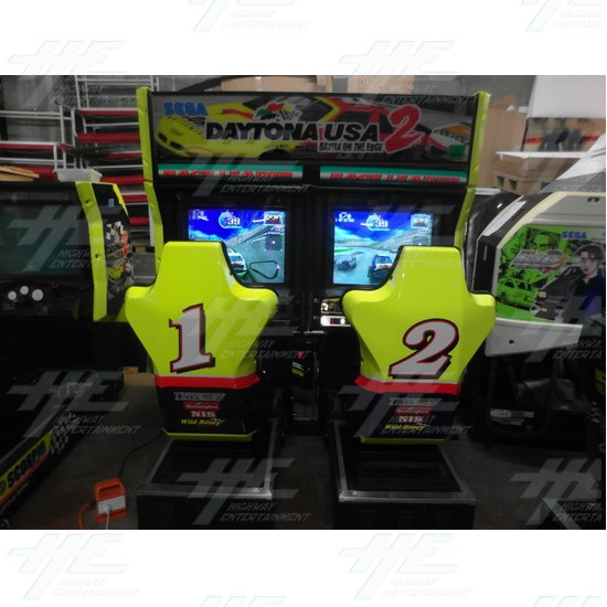Daytona 2 USA Twin Driving Arcade Machine - Full Machine View