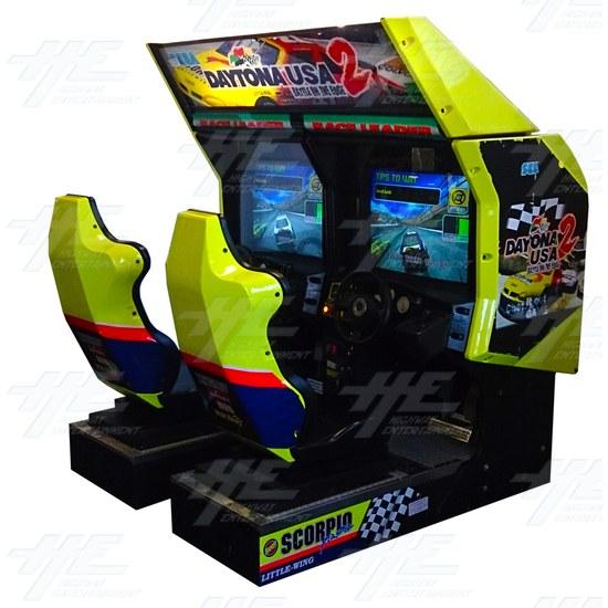 Daytona 2 USA Twin Driving Arcade Machine - Full View