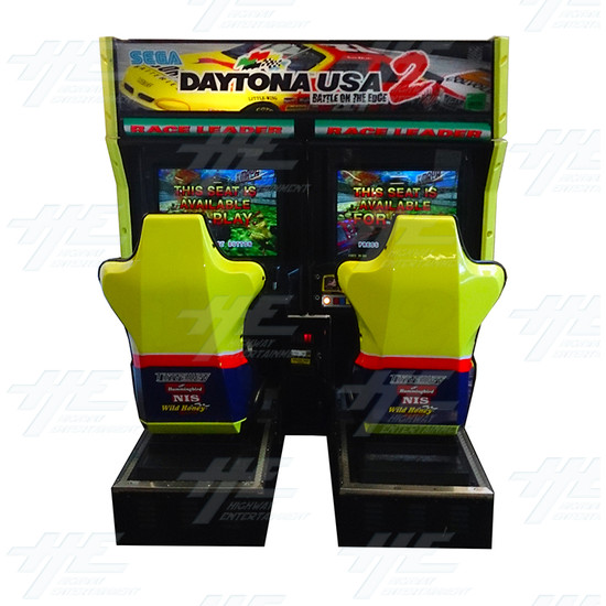 Daytona 2 USA Twin Driving Arcade Machine - Front View