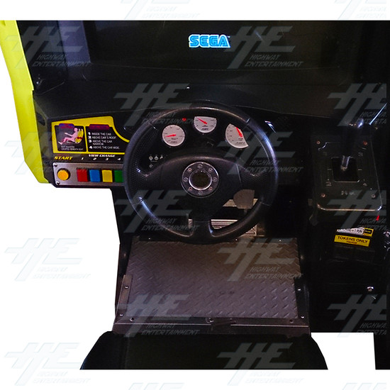 Daytona 2 USA Twin Driving Arcade Machine - Left Control Panel