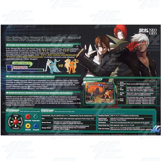 King of Fighters 2003 Arcade Game Board  - Brochure