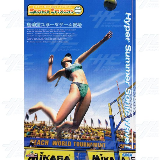 Beach Spikers Arcade Software GD ROM and IC - Beach Spikers