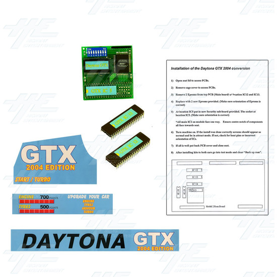 Daytona GTX 2004 Upgrade Kit for Daytona USA - Full Kit