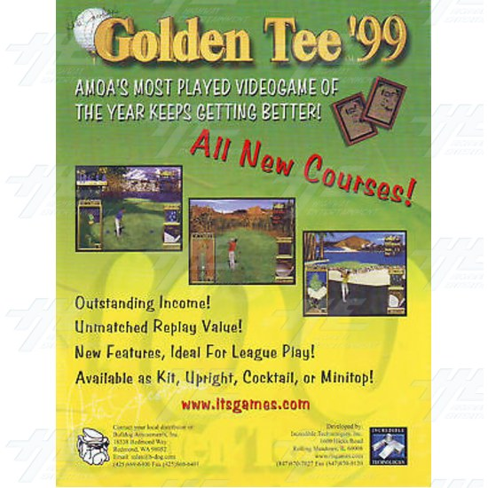 Golden Tee 99 Kit - Brochure