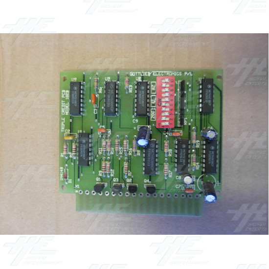 Gottlieb Triple Coin Credit Board PCB - Top View