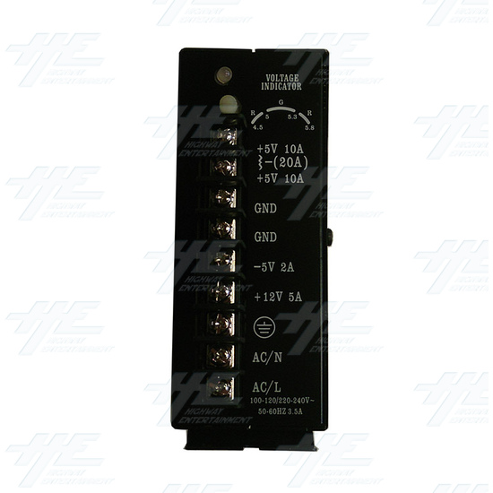 20 Amp Switching Power Supply (Model Number P15CF) - Front View