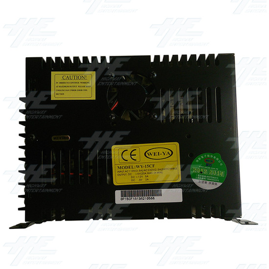 20 Amp Switching Power Supply (Model Number P15CF) - Right Side