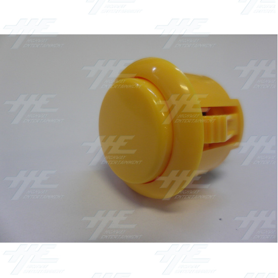 Sanwa Push Button OBSF-24 Yellow - Full View
