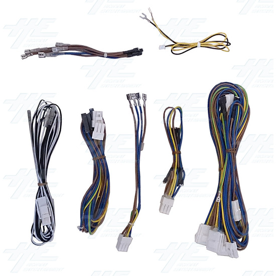 SJML 2 Player Control Panel with Joystick, Buttons and Wiring Harness - Cable Accessories