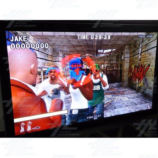 Action Deka Arcade Machine - Screen View