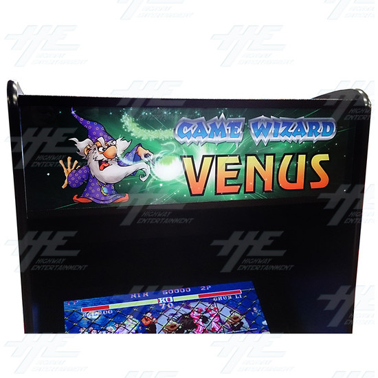 Game Wizard Venus Arcade Machine - Header