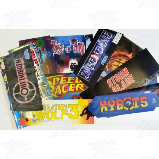 15 Assorted Arcade Header Bulk Bundle - Assorted Headers