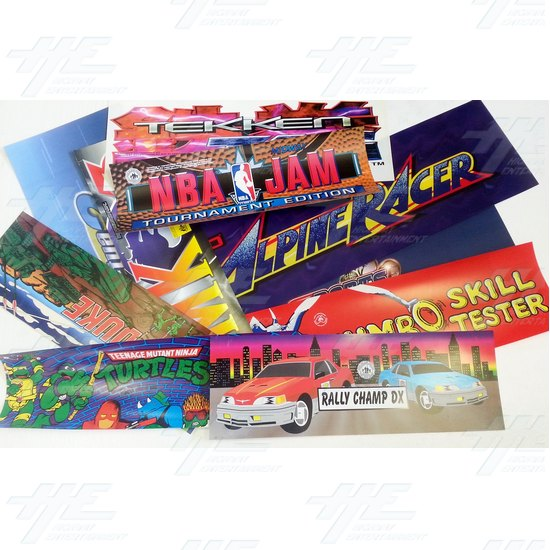 67 Assorted Arcade Header Bulk Bundle  - Assorted Headers