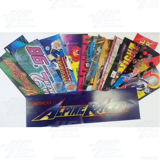 73 Assorted Arcade Header Bulk Bundle  - Assorted Headers