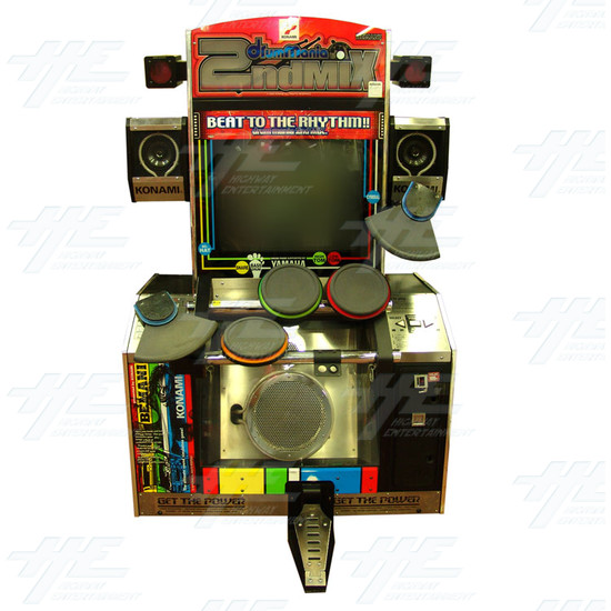 Drum Mania 2nd Mix Arcade Machine - Front View