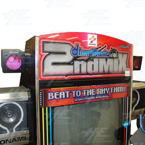 Drum Mania 2nd Mix Arcade Machine - Header
