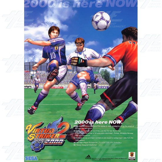 Virtua Striker 2 ver.2000 Catridge for Naomi Motherboard - Brochure Front