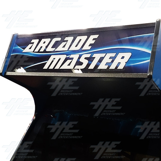 Arcade Master Upright Arcade Cabinet - Header