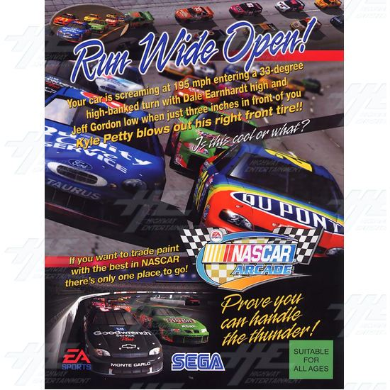 EA NASCAR 32inch Arcade Driving Machine  - Brochure Front