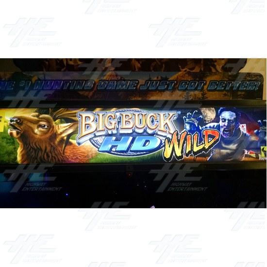 "Big Buck HD Wild 42"" Dedicated Mini Model Arcade Machine - Big Buck HD Wild 42"" Mini Arcade Machine Header"