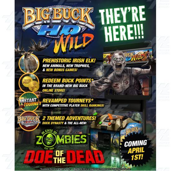 "Big Buck HD Wild 42"" Dedicated Mini Model Arcade Machine - Big Buck HD Wild 42"" Mini Arcade Machine Flyer"