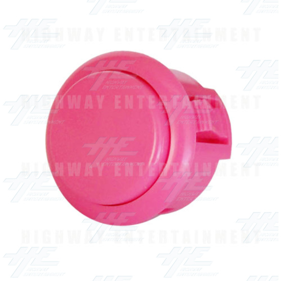 Sanwa Button OBSF-30 Pink - Angle View