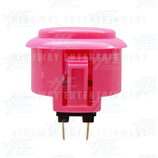 Sanwa Button OBSF-30 Pink - Side View