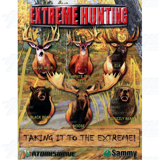 Extreme Hunting SD Arcade Machine - Brochure Front