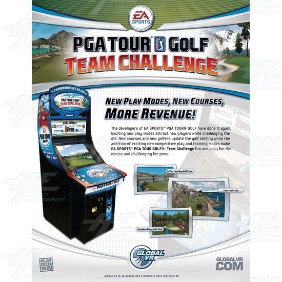 EA Sports PGA Tour Golf Challenge Arcade Machine - Brochure Front