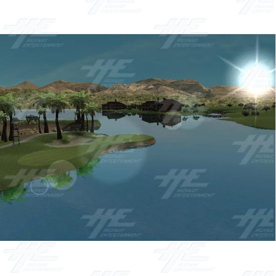 EA Sports PGA Tour Golf Challenge Arcade Machine - Screenshot