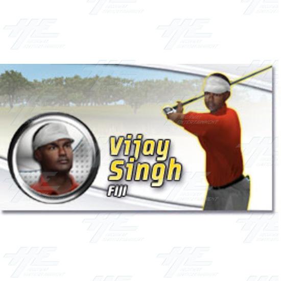 EA Sports PGA Tour Golf Challenge Arcade Machine - Vijay Singh