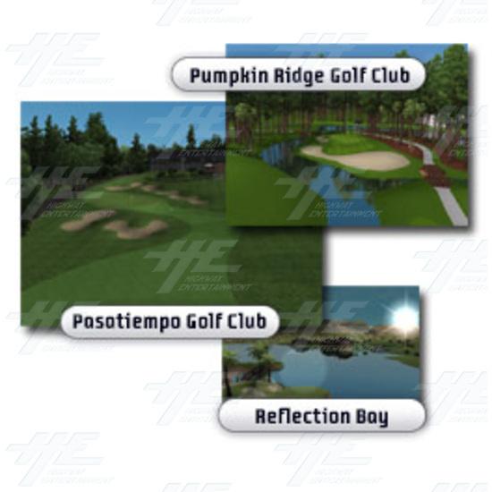 EA Sports PGA Tour Golf Challenge Arcade Machine - Real Courses