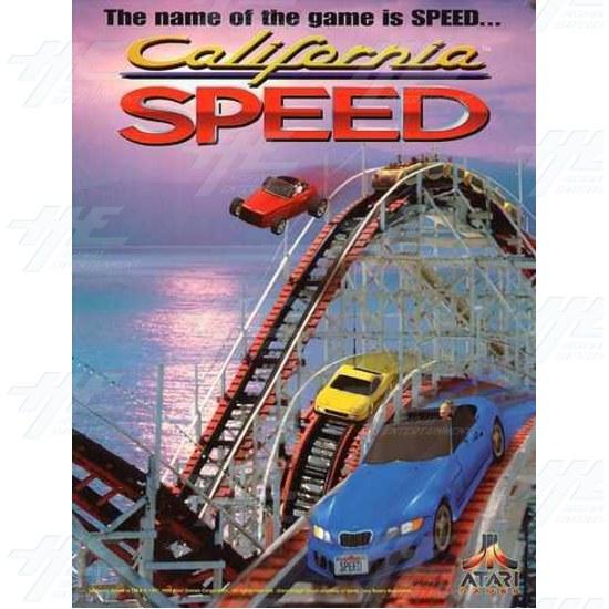 California Speed SD Arcade Machine - Brochure Front