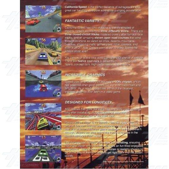 California Speed SD Arcade Machine - Brochure Inside 01