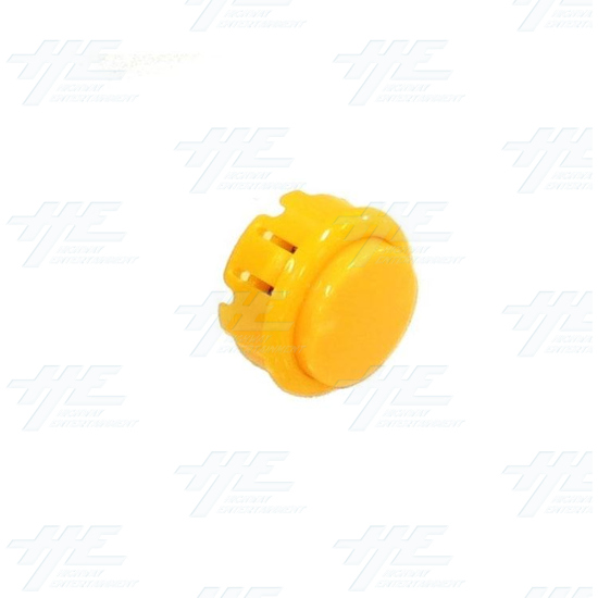 Arcade Pushbutton 33mm - Yellow - Full View