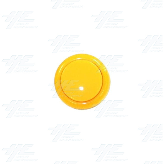 Arcade Pushbutton 33mm - Yellow - Front View