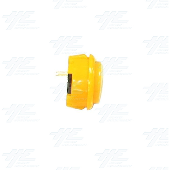 Arcade Pushbutton 33mm - Yellow - Side View