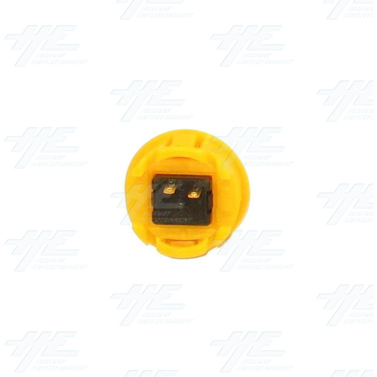 Arcade Pushbutton 33mm - Yellow - Bottom View