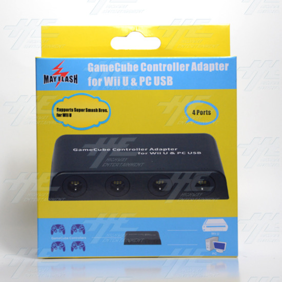 Mayflash GameCube Controller Adapter for Wii U, PC USB and Switch, 4 Port  - w012 4.jpg