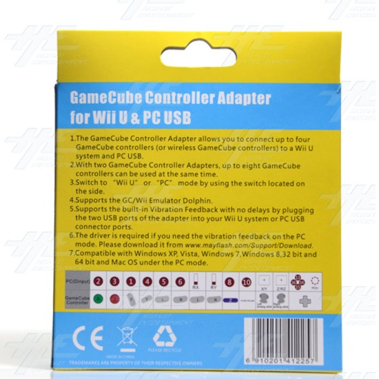 Mayflash GameCube Controller Adapter for Wii U, PC USB and Switch, 4 Port  - w012 3.jpg