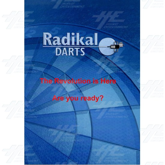Radikal Darts Electronic Dart Machine - Brochure Front