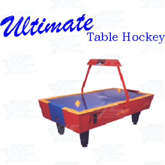 Gamemasters Ultimate Air Hockey Table (Red Base with Blue Top) - Gamemasters Ultimate Air Hockey Table