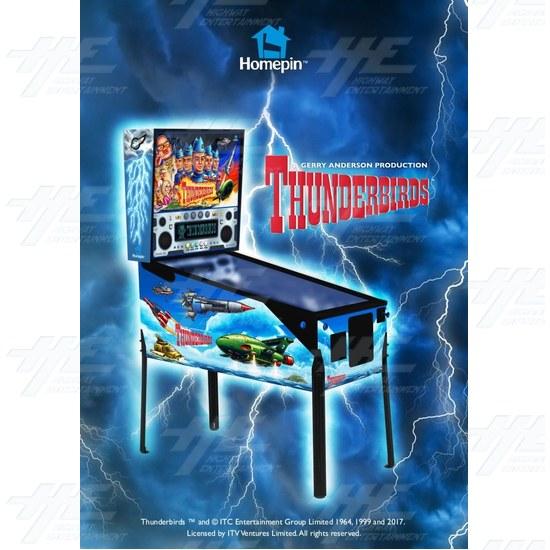 Thunderbirds Pinball Machine - Thunderbirds Pinball Flyer page 1