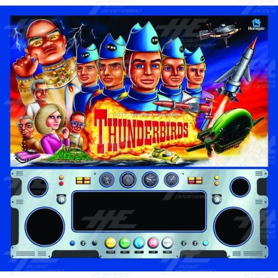Thunderbirds Pinball Machine - Translite graphic